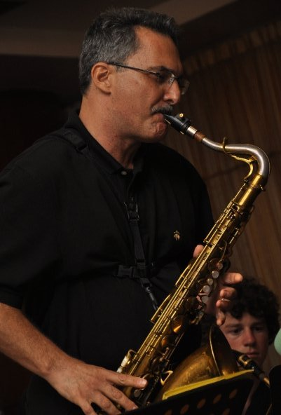 Soloing at the 2009 Jazz Prelude at the Paradise Sandy Bay resort, on a
